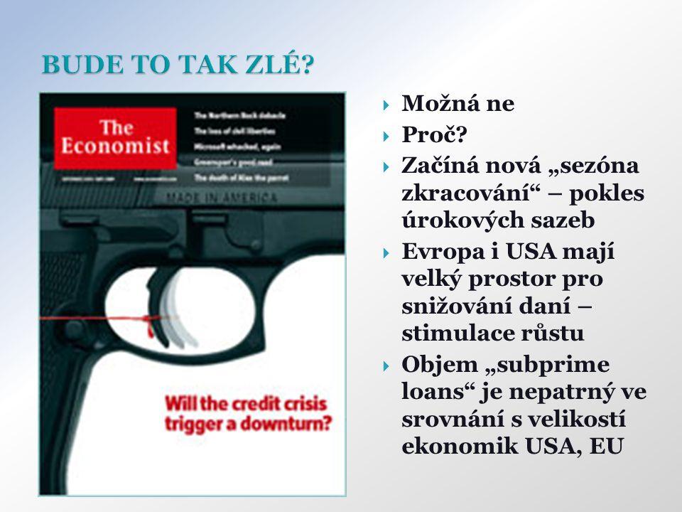 """ Možná ne  Proč?  Začíná nová """"sezóna zkracování"""" – pokles úrokových sazeb  Evropa i USA mají velký prostor pro snižování daní – stimulace růstu """