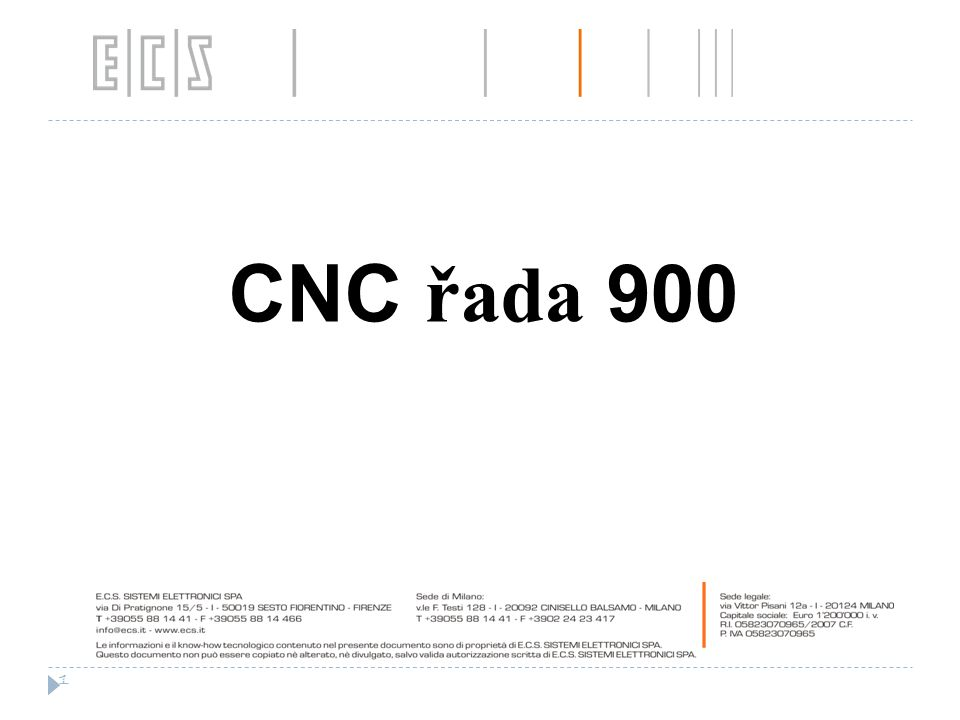 CNC řada 900 1