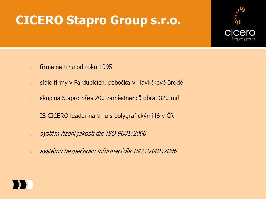 Produkty CICERO X - ř ešení pro st ř ední a velké firmy CICERO L - ř ešení pro menší firmy