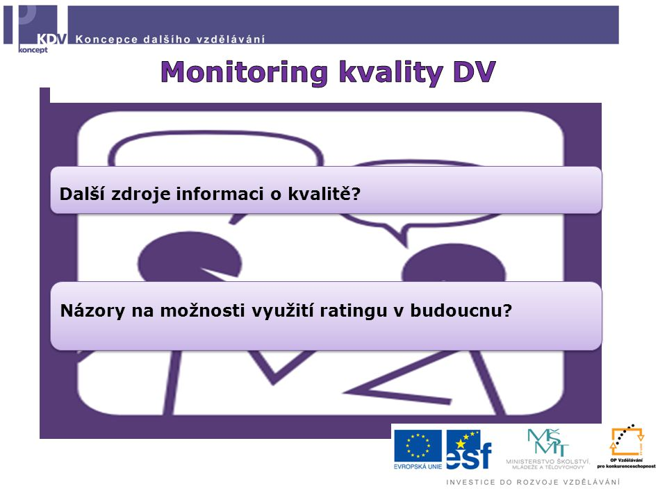 Názory na možnosti využití ratingu v budoucnu Další zdroje informaci o kvalitě