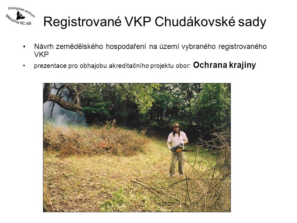 Registrované VKP Chudákovské sady Návrh zemědělského hospodaření na území vybraného registrovaného VKP prezentace pro obhajobu akreditačního projektu