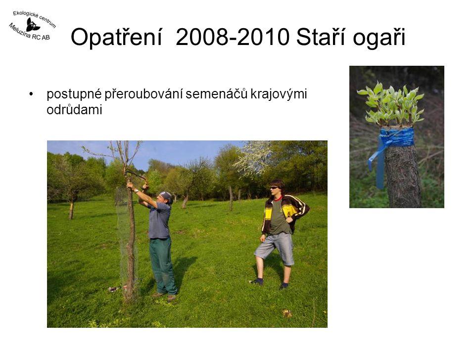 Opatření 2008-2010 Staří ogaři postupné přeroubování semenáčů krajovými odrůdami