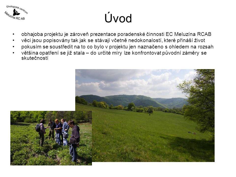 Úvod obhajoba projektu je zároveň prezentace poradenské činnosti EC Meluzína RCAB věci jsou popisovány tak jak se stávají včetně nedokonalostí, které