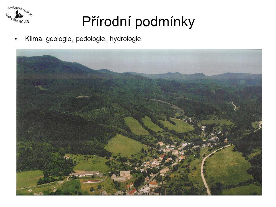 Přírodní podmínky Klima, geologie, pedologie, hydrologie