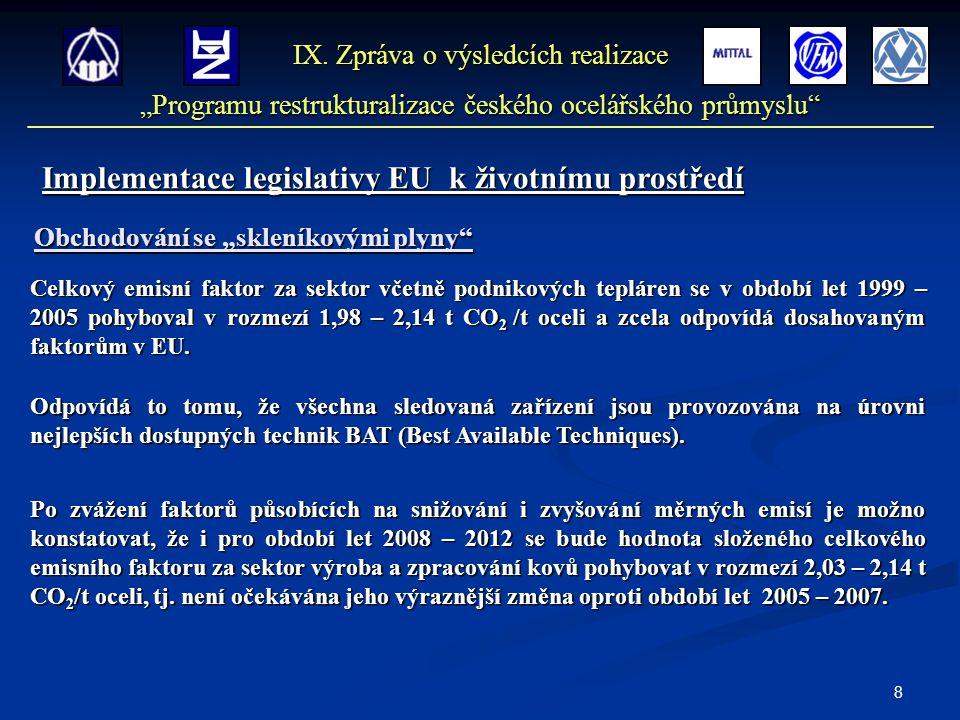 8 Implementace legislativy EU k životnímu prostředí IX.