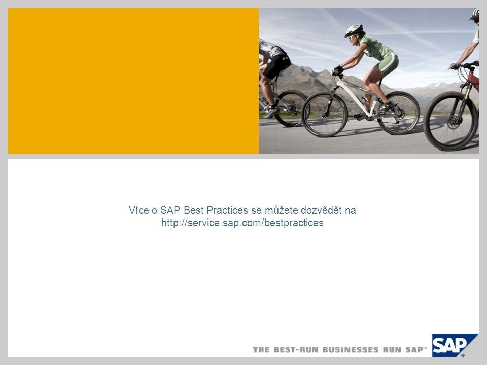 Více o SAP Best Practices se můžete dozvědět na http://service.sap.com/bestpractices