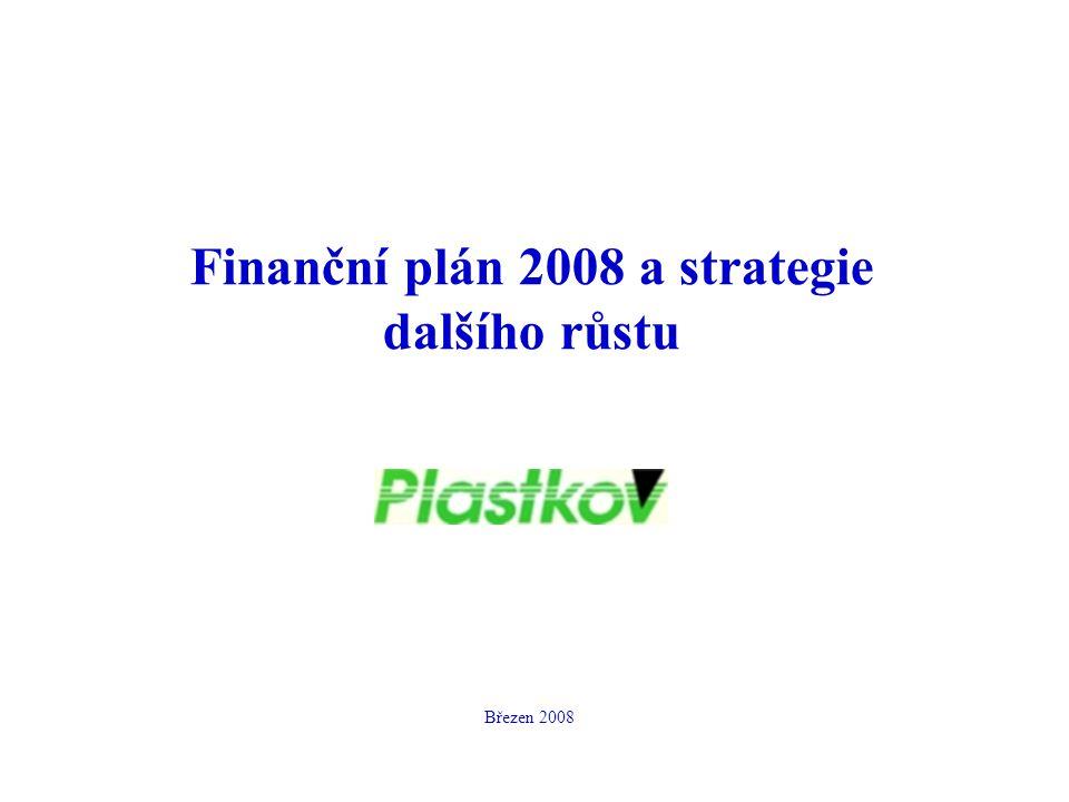 Finanční plán 2008 a strategie dalšího růstu Březen 2008