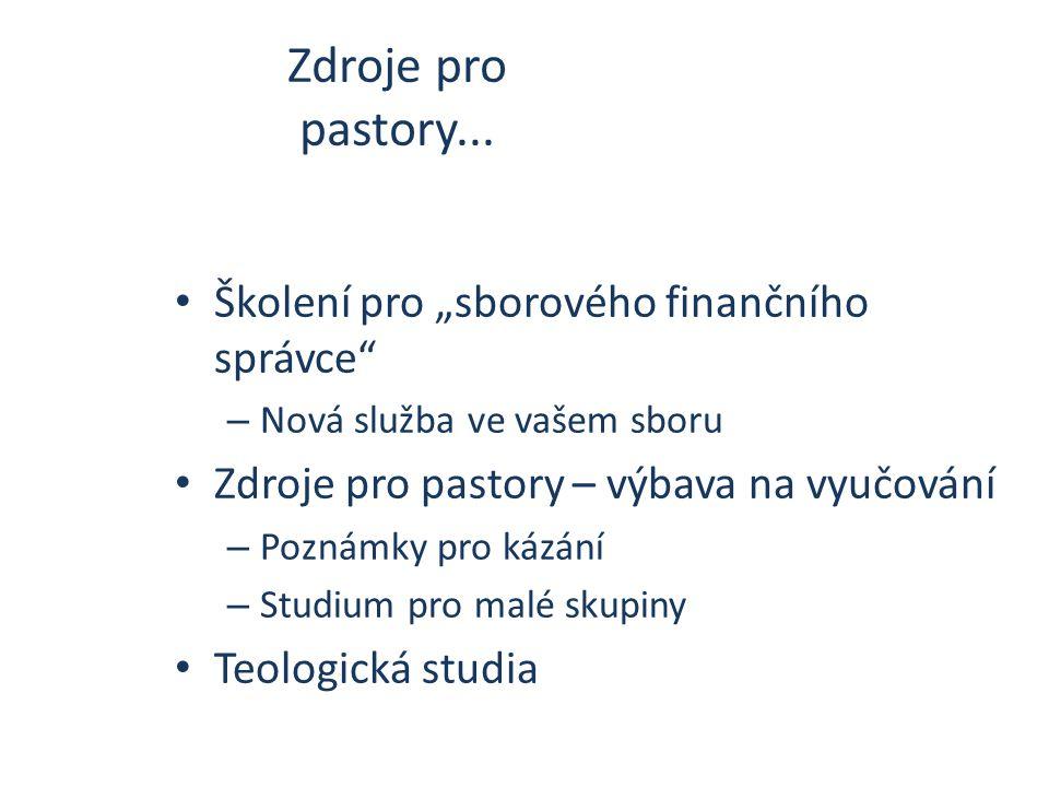 Zdroje pro pastory...