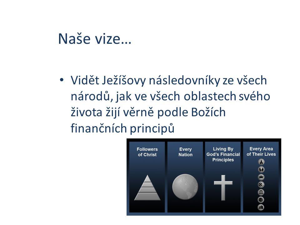 Naše vize… Vidět Ježíšovy následovníky ze všech národů, jak ve všech oblastech svého života žijí věrně podle Božích finančních principů