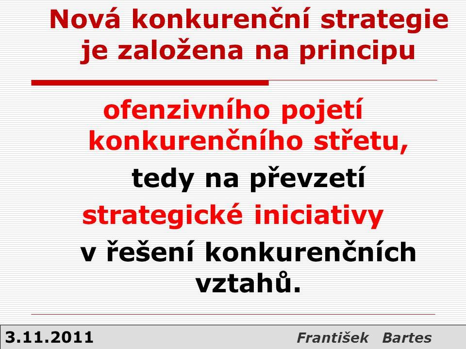 Nová konkurenční strategie je založena na principu ofenzivního pojetí konkurenčního střetu, tedy na převzetí strategické iniciativy v řešení konkurenč