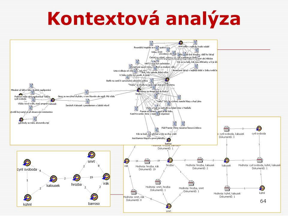 64 Kontextová analýza