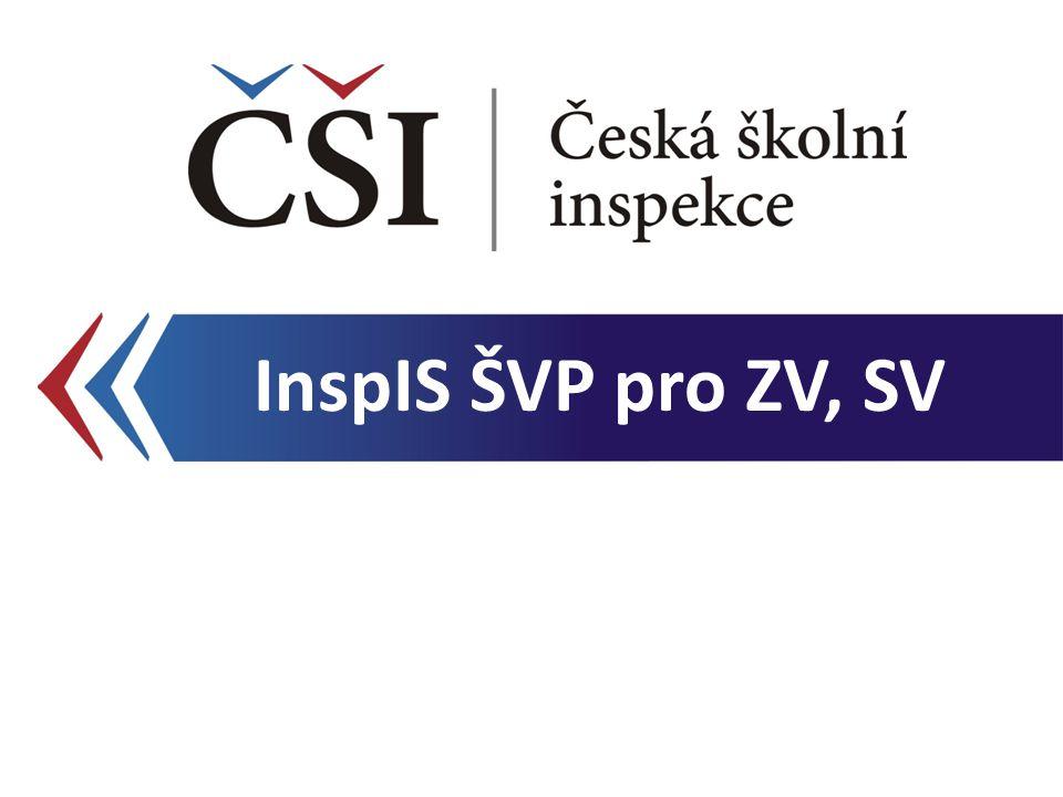 Přidání formy vzdělávání Kontextová nápověda InspIS ŠVP pro ZV, SV