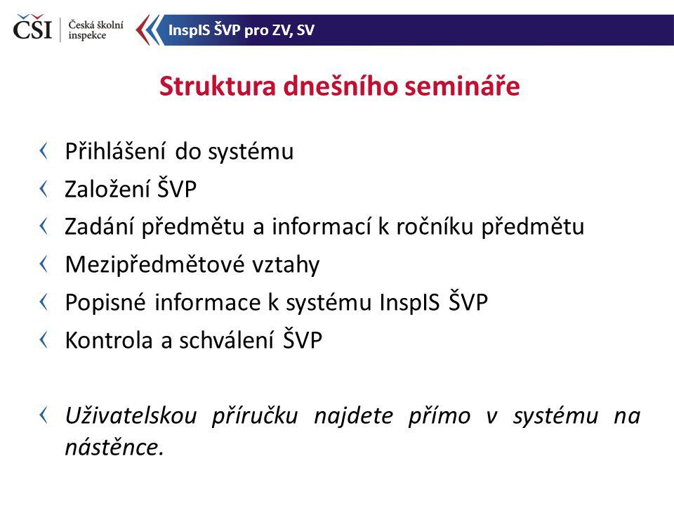 Zadání nového volitelného předmětu - 3 InspIS ŠVP pro ZV, SV