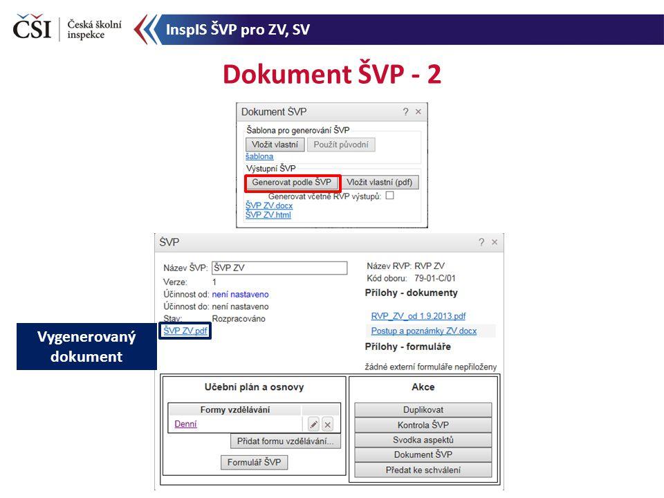 Dokument ŠVP - 2 Vygenerovaný dokument InspIS ŠVP pro ZV, SV