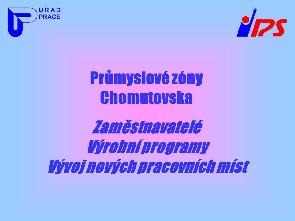 Průmyslové zóny Chomutovska Zaměstnavatelé Výrobní programy Vývoj nových pracovních míst