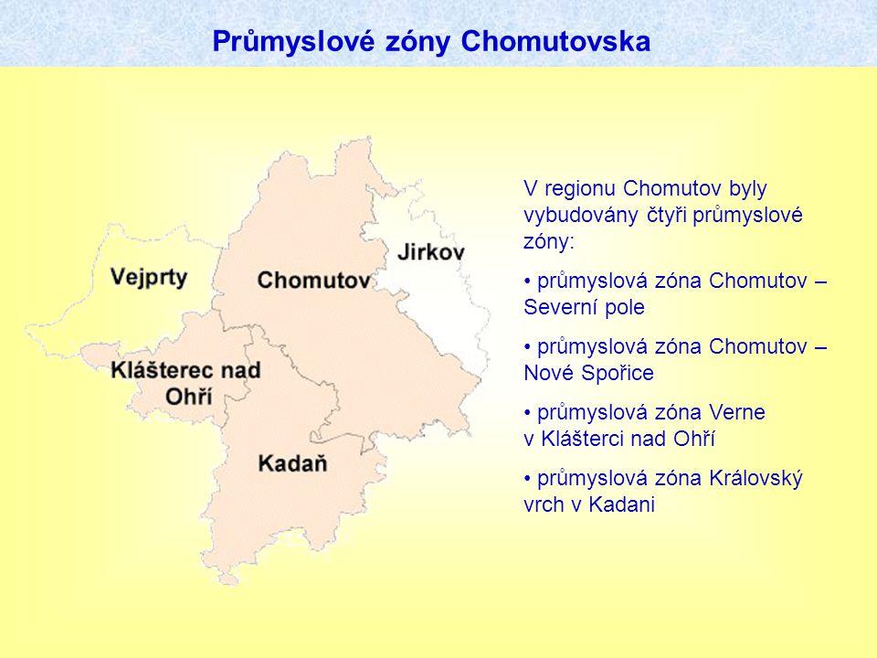 Průmyslové zóny Chomutovska V regionu Chomutov byly vybudovány čtyři průmyslové zóny: průmyslová zóna Chomutov – Severní pole průmyslová zóna Chomutov