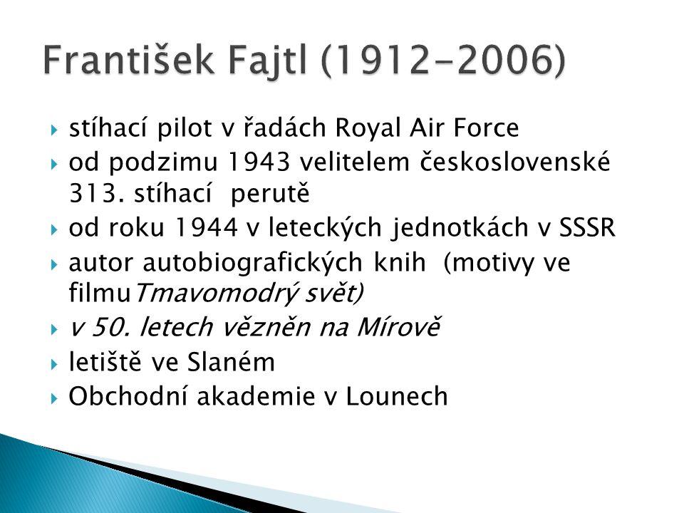  stíhací pilot v řadách Royal Air Force  od podzimu 1943 velitelem československé 313. stíhací perutě  od roku 1944 v leteckých jednotkách v SSSR 