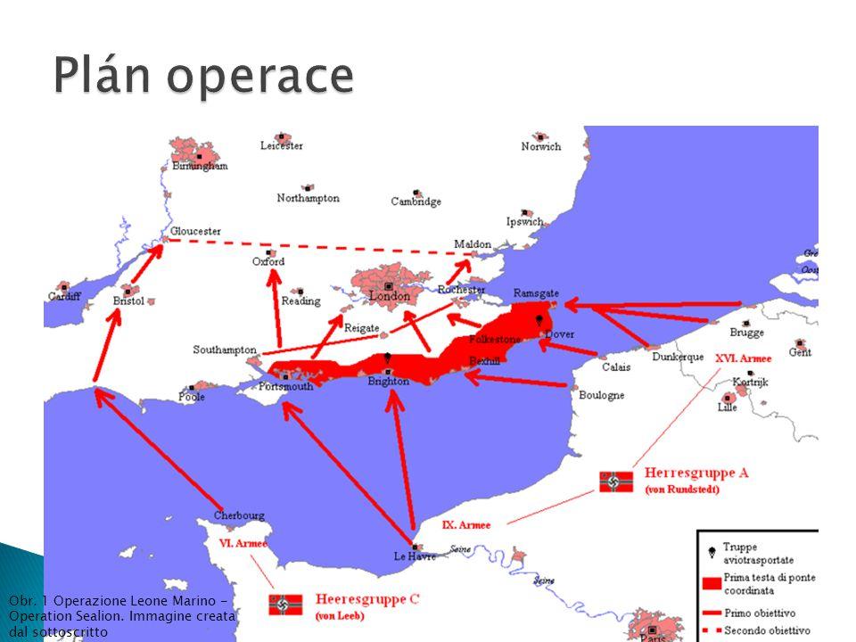 Obr. 1 Operazione Leone Marino - Operation Sealion. Immagine creata dal sottoscritto