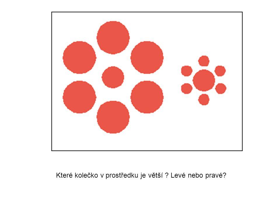 Které kolečko v prostředku je větší ? Levé nebo pravé?