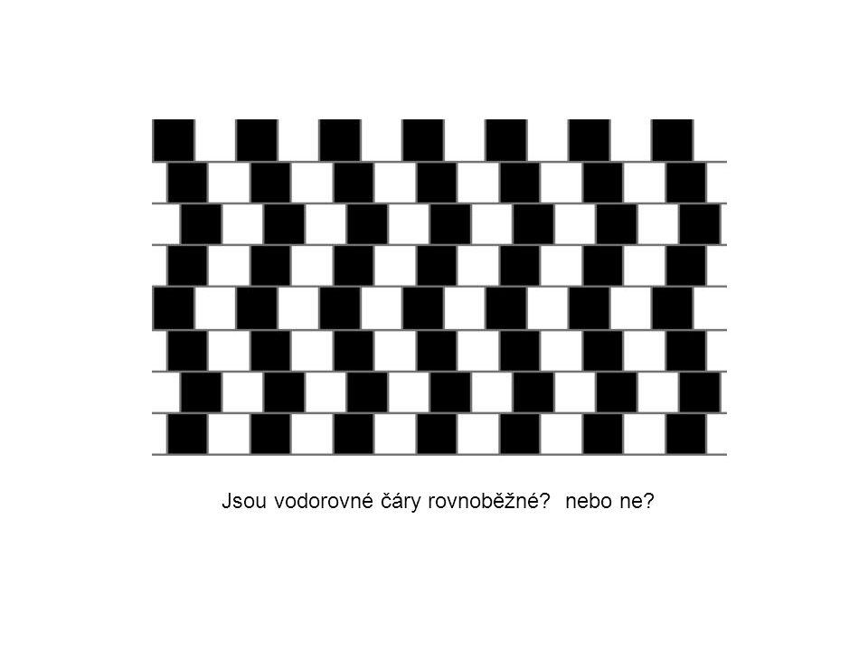 Jsou vodorovné čáry rovnoběžné? nebo ne?