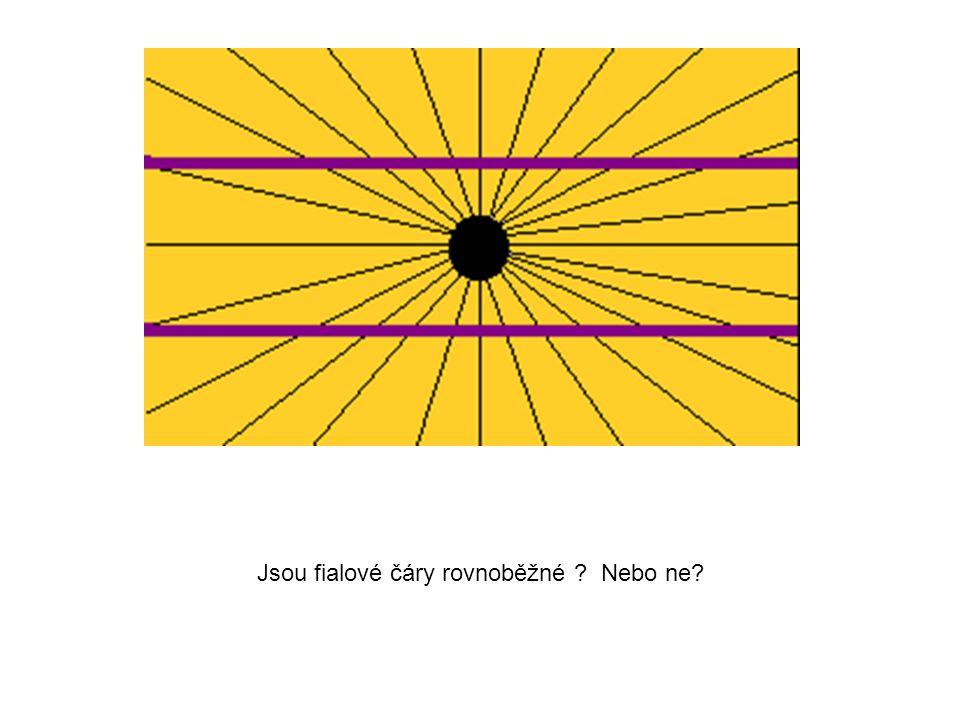 Jsou fialové čáry rovnoběžné ? Nebo ne?