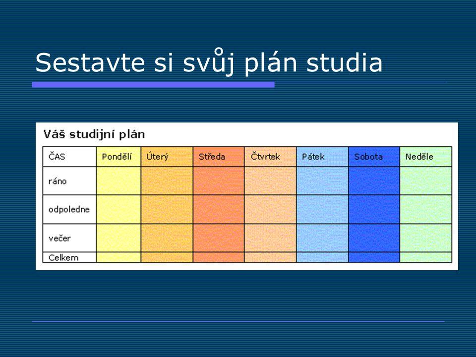 Sestavte si svůj plán studia