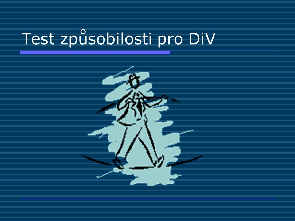 Test způsobilosti pro DiV