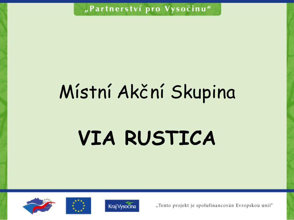 Zájmové území MAS Via rustica mikroregiony Stražiště a Svidník (Pacovsko a Černovicko, okres Pelhřimov) 287 km 2 2 města, 25 obcí 12 334 obyvatel (r.