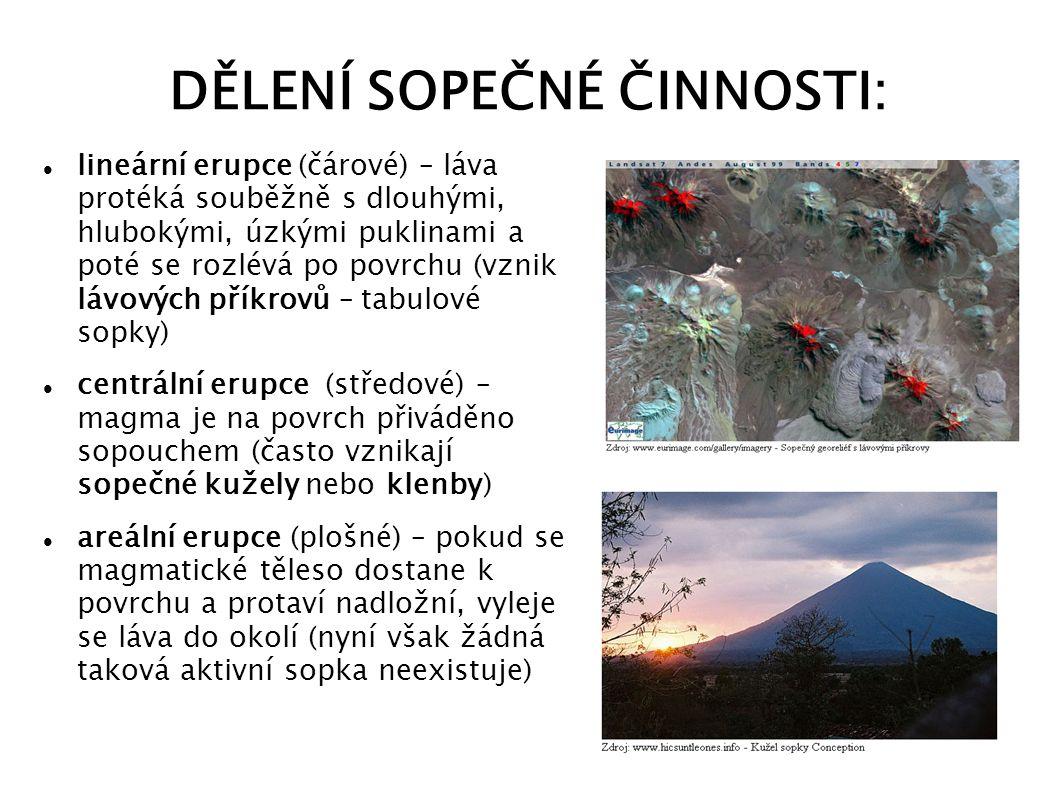VYUŽITÍ SOPEČNÉ ČINNOSTI tvorba vulkanického spadového materiálu (popílku) – velmi úrodné, zemědělsky využitelné půdy geotermální elektrárny (např.