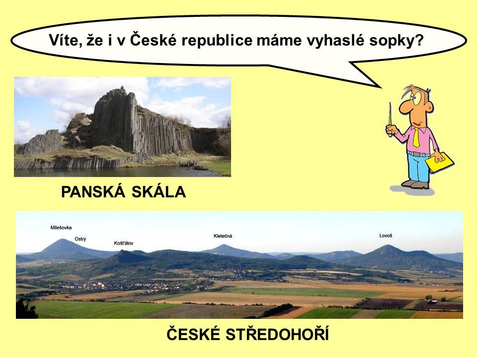 Víte, že i v České republice máme vyhaslé sopky? ČESKÉ STŘEDOHOŘÍ PANSKÁ SKÁLA