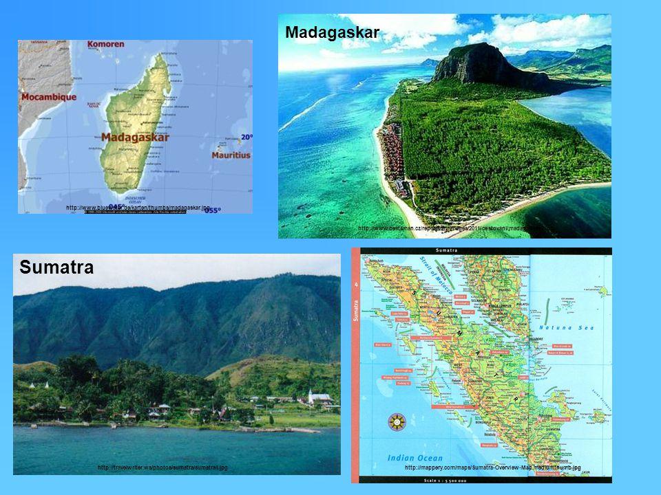 2) Sopečné ostrovy : - vznikají sopečnou činností pod vodou na dně oceánu kdy vrcholky sopky vystoupí nad hladinu - nejvíce takových sopek je v Tichém oceánu (např.