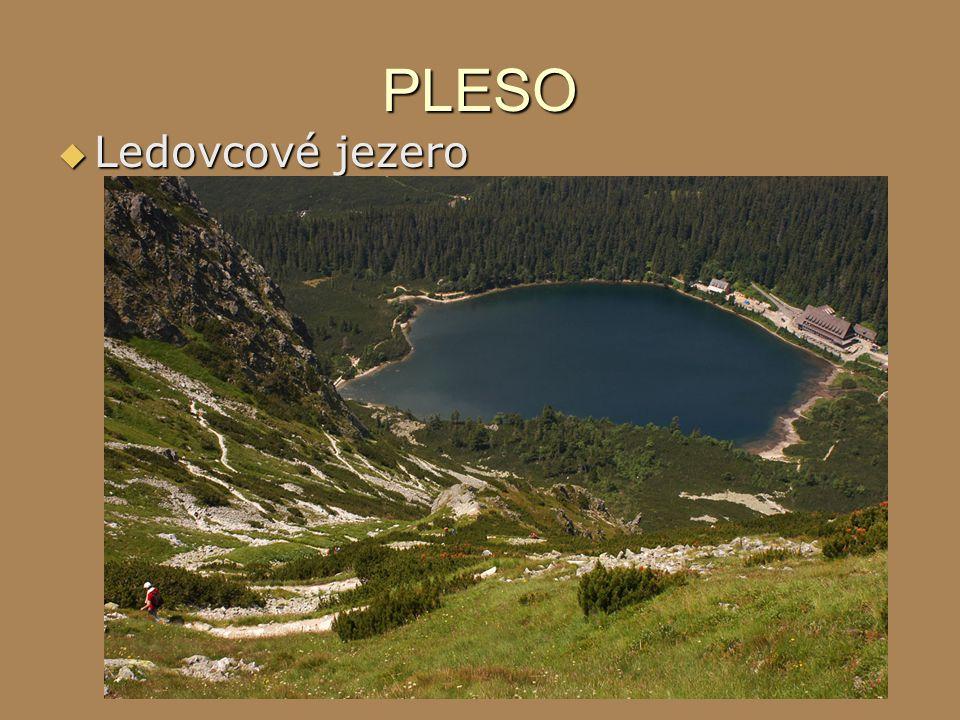 PLESO  Ledovcové jezero