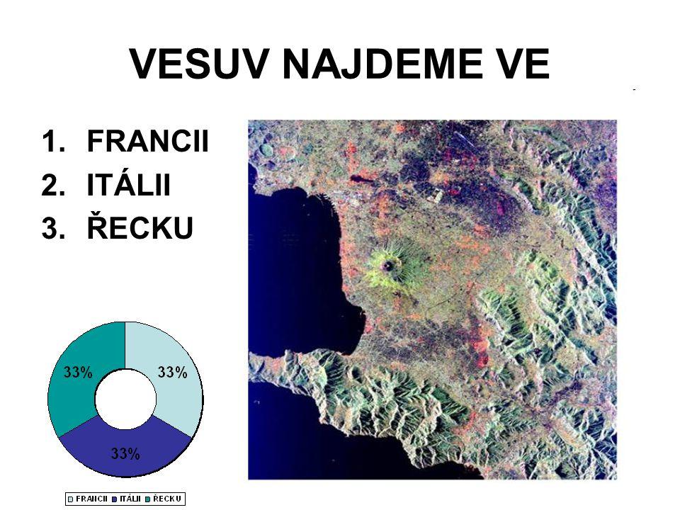 VESUV NAJDEME VE 1.FRANCII 2.ITÁLII 3.ŘECKU