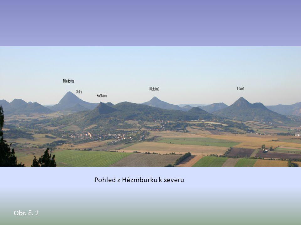 Obr. č. 2 Pohled z Házmburku k severu