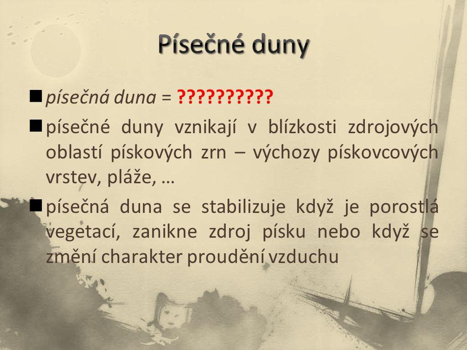 písečná duna = ?????????.