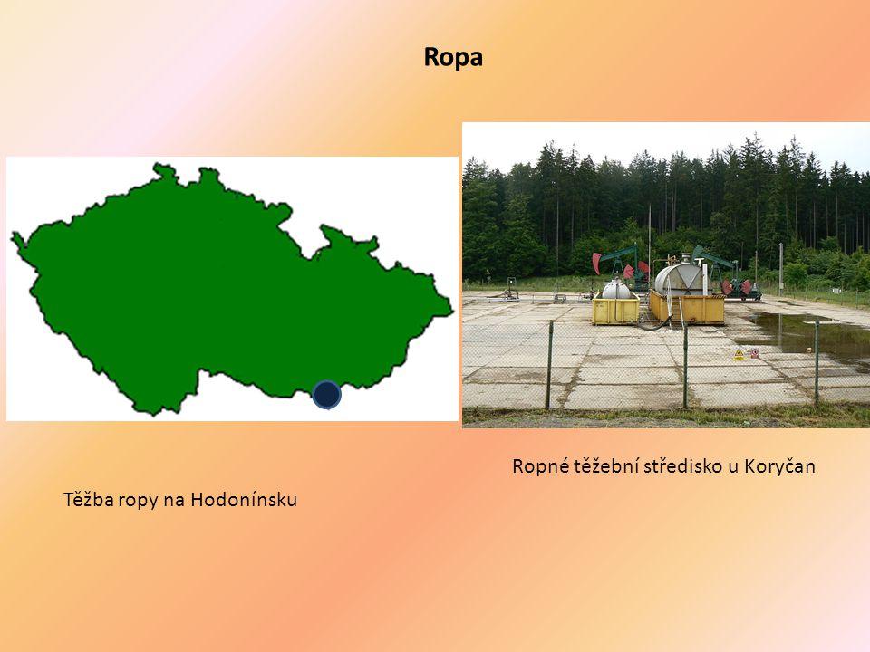 Těžba ropy na Hodonínsku Ropné těžební středisko u Koryčan Ropa