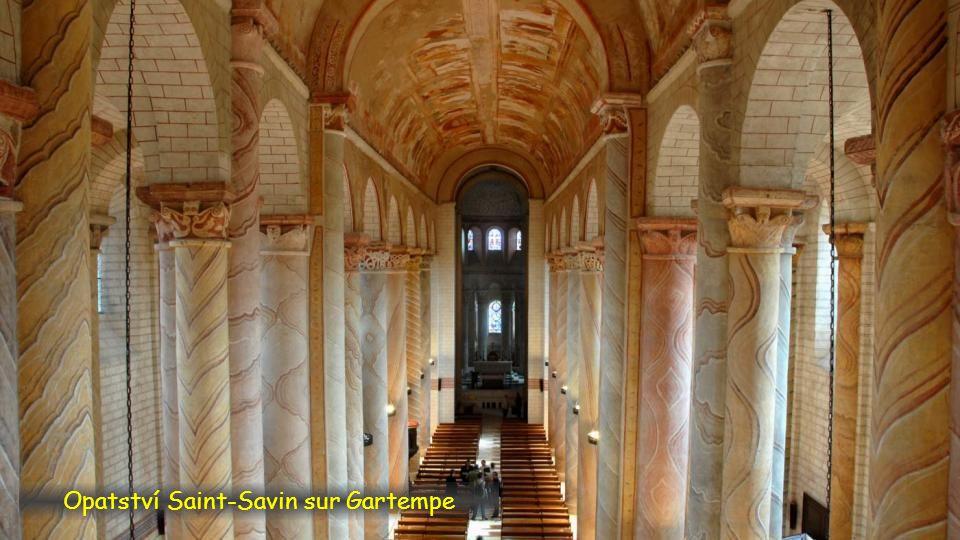 Opatství Saint Savin sur Gartempe, Poitou-Charentes