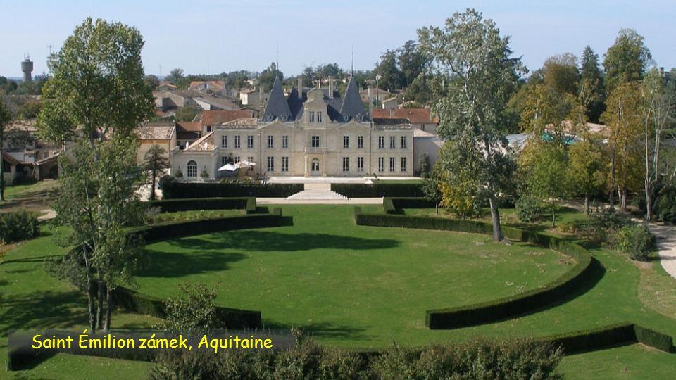 Saint Émilion zámek a vinohrady, Aquitaine