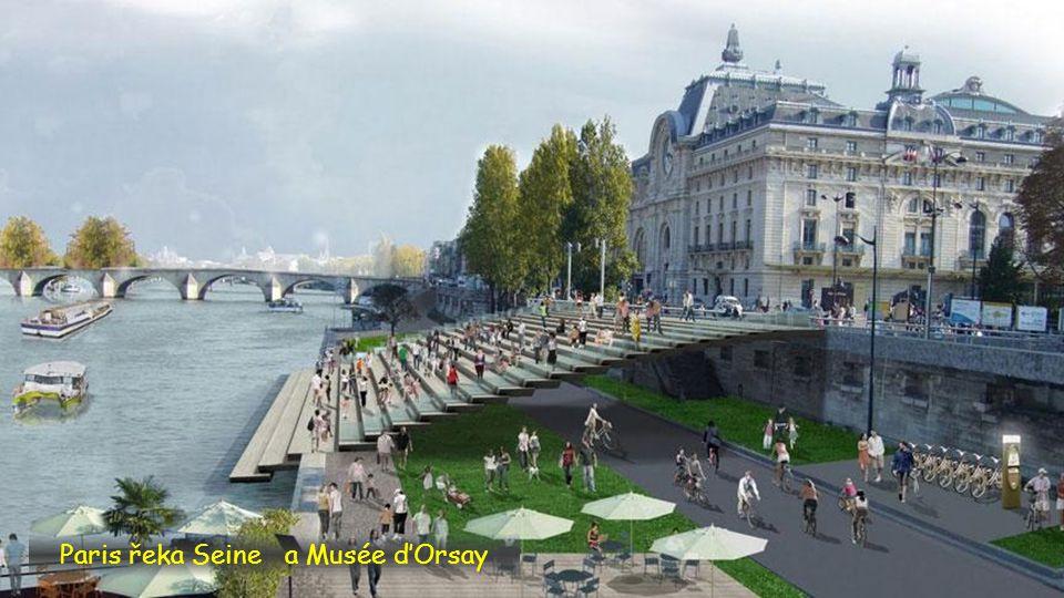 Paris a řeka Seine
