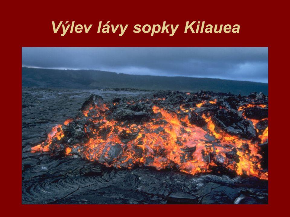 Výlev lávy sopky Kilauea