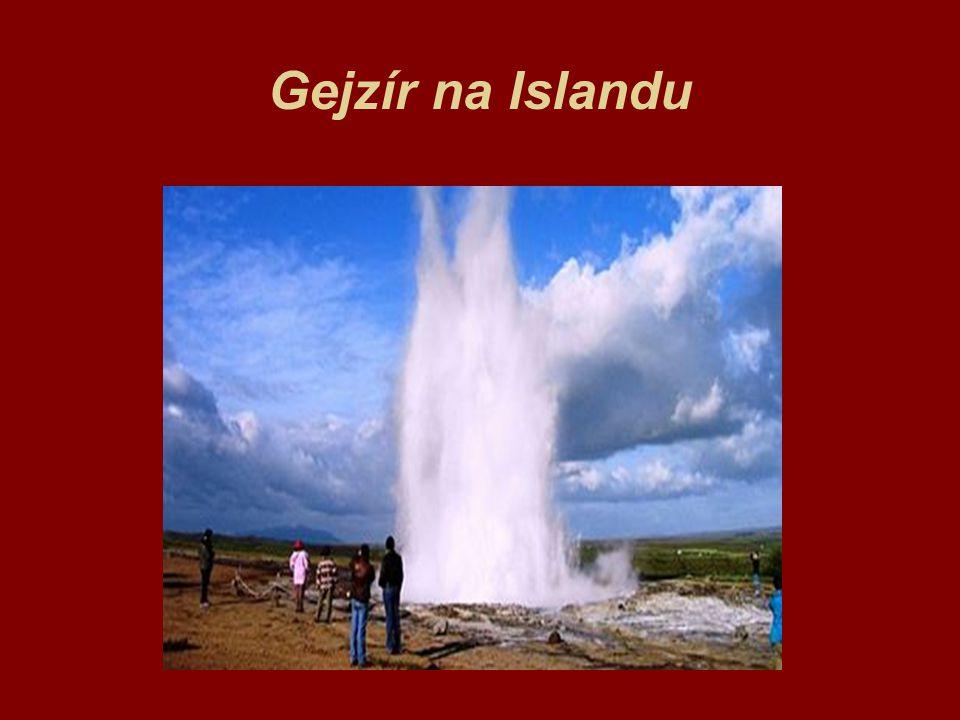 Gejzír na Islandu