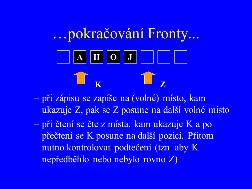 …pokračování Fronty...