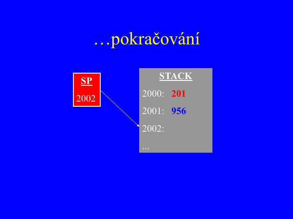 …pokračování STACK 2000:201 2001:956 2002:... SP 2002
