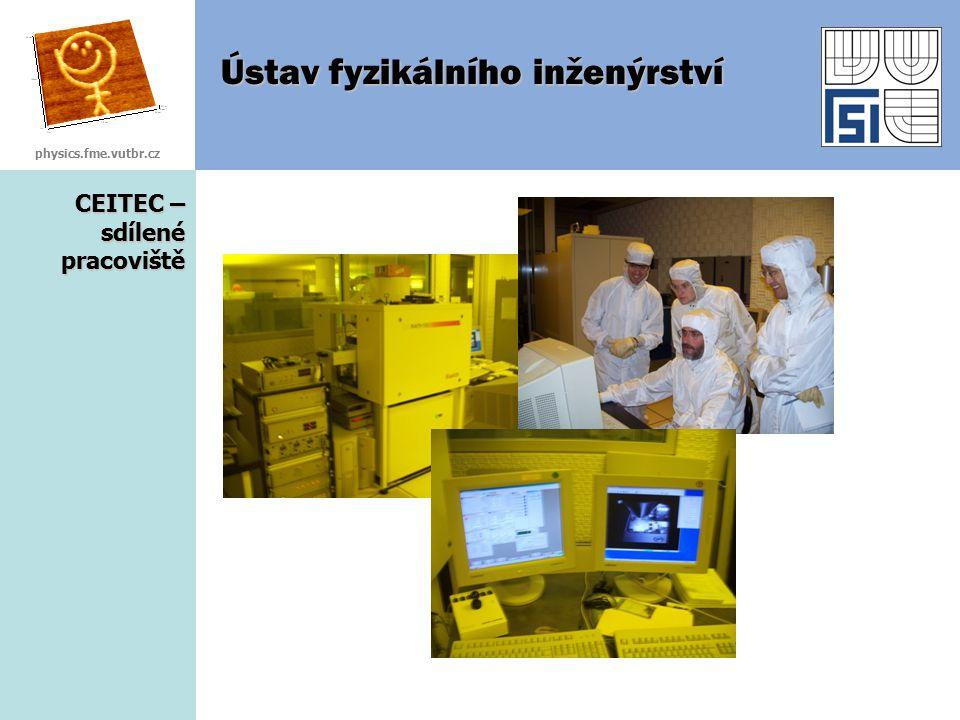 CEITEC – sdílené pracoviště Ústav fyzikálního inženýrství physics.fme.vutbr.cz