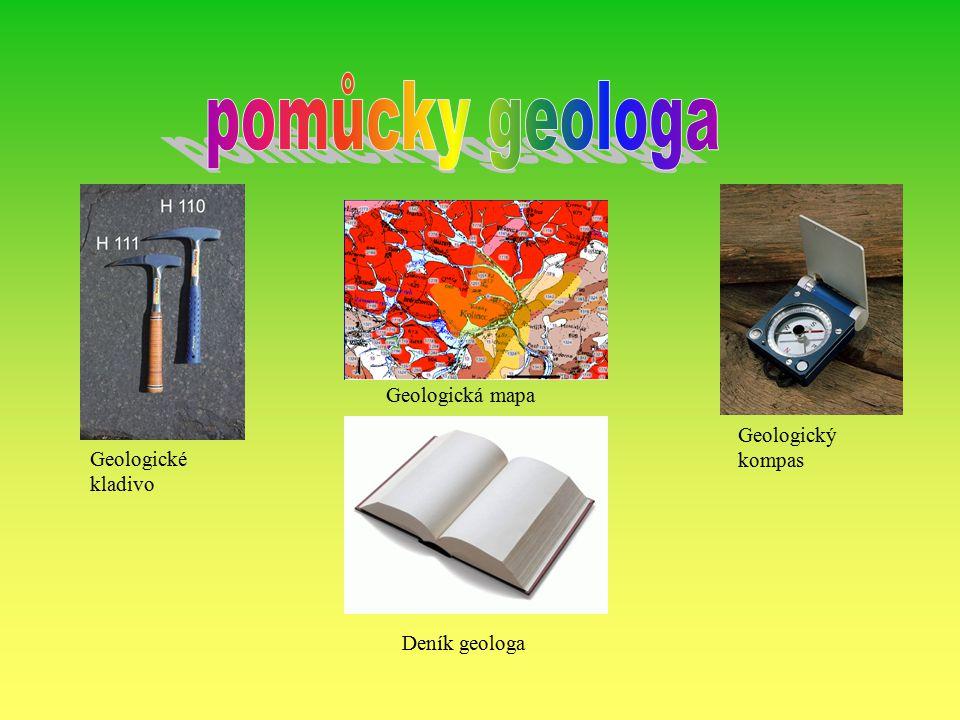Geologické mapy zobrazují rožšíření hornin a stratigrafických jednotek různými barvami či šrafami.