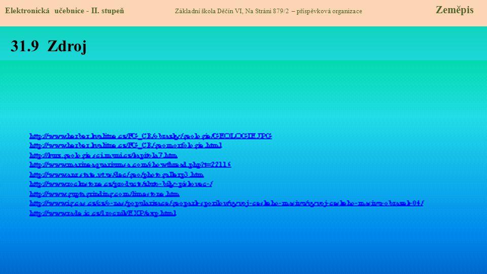 31.9 Zdroj Elektronická učebnice - II. stupeň Základní škola Děčín VI, Na Stráni 879/2 – příspěvková organizace Zeměpis
