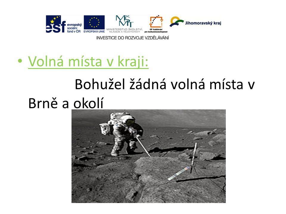 Volná místa v kraji: Bohužel žádná volná místa v Brně a okolí