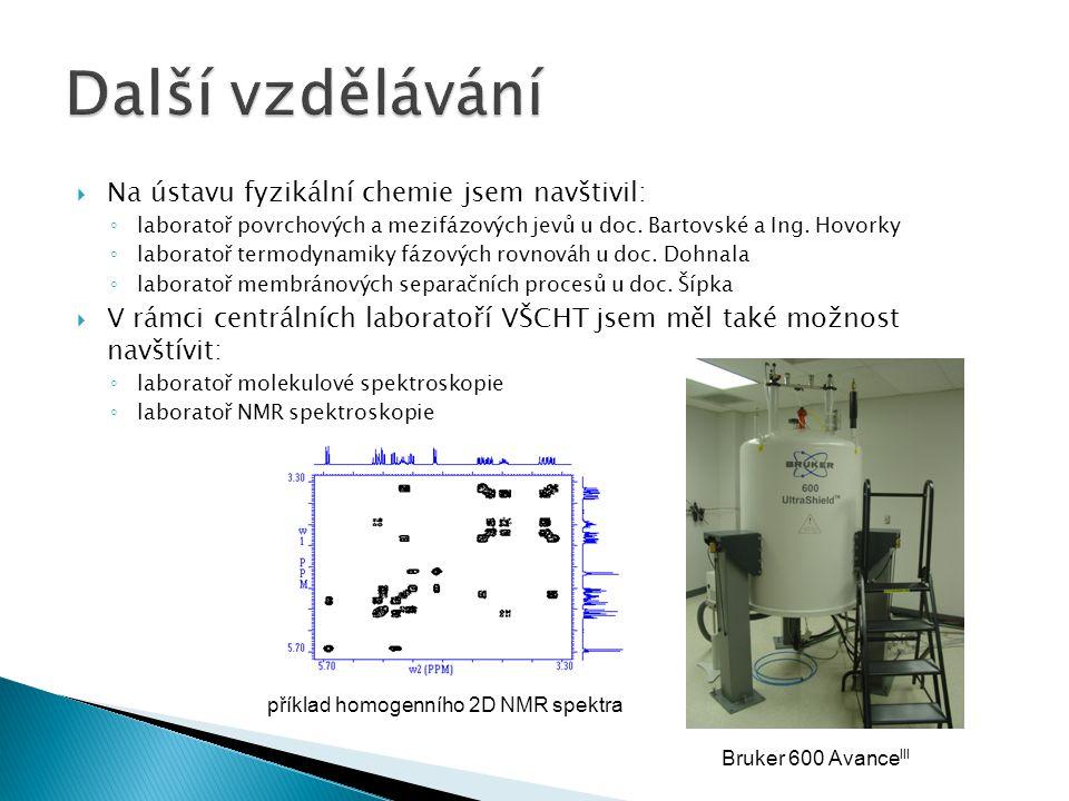  Na ústavu fyzikální chemie jsem navštivil: ◦ laboratoř povrchových a mezifázových jevů u doc.