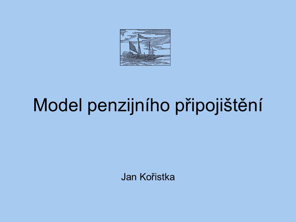 Model penzijního připojištění Jan Kořistka