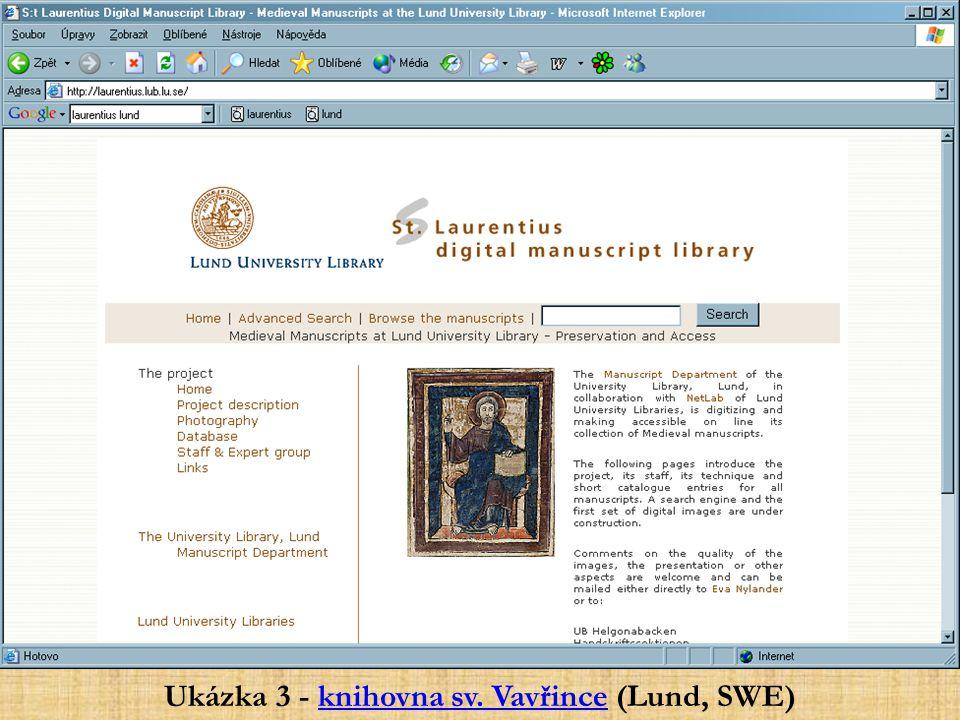 Ukázka 3 - knihovna sv. Vavřince (Lund, SWE)knihovna sv. Vavřince